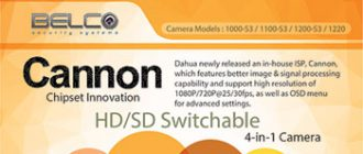 Latest HD-CVI Cannon Series 4-in-1 Camera